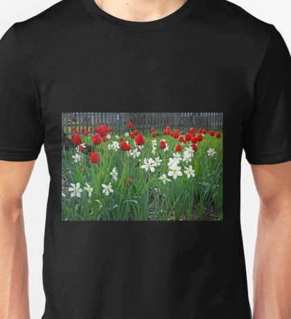 Tulips and Tiny Daffodils Unisex T-Shirt