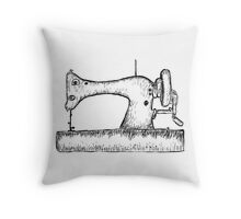 Sewing machine sketch Throw Pillow