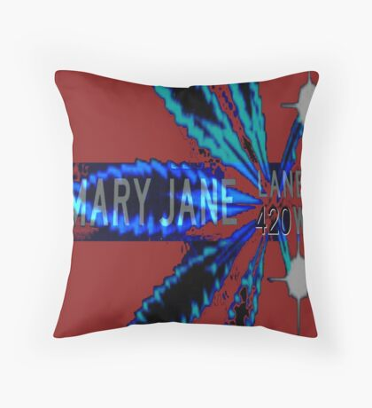 Mary Jane 420 Throw Pillow