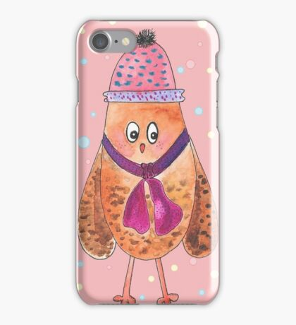 Happy New Year owl drawing iPhone Case/Skin