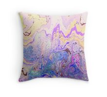 Gorgeous vibrant marbling ink pattern design for decorative and ornamental prints as wall art, on textiles, clothing, and on many other items Throw Pillow