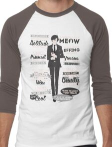 Cat Addict Quotes Men's Baseball ¾ T-Shirt