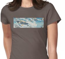 Jetpack Penguins Womens Fitted T-Shirt