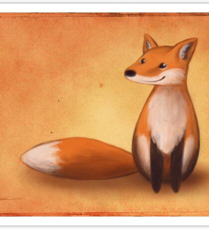 Smiling Fox Sticker