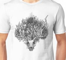 Life's Mystery: The Deer Skull Unisex T-Shirt