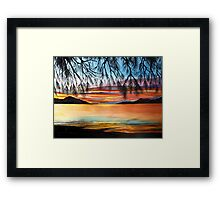 Sunset at the Whitsundays, Australia Framed Print