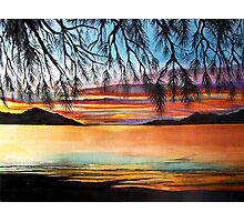 Sunset at the Whitsundays, Australia Photographic Print