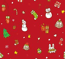 Christmas pattern by trapezoid