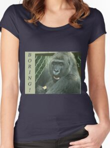 Boring Women's Fitted Scoop T-Shirt