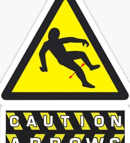 Caution: Arrows Sticker