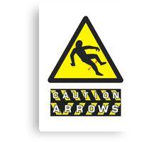Caution: Arrows Canvas Print