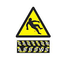 Caution: Arrows Photographic Print