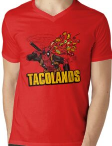 TACOLANDS Mens V-Neck T-Shirt