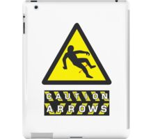Caution: Arrows iPad Case/Skin