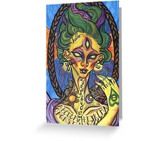 Pythoness (Ouija Board Tattoo) Greeting Card