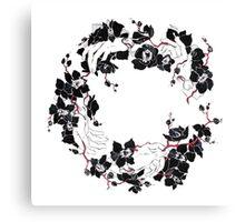 Black orchid flower Canvas Print