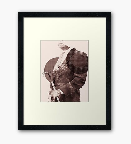 Mysterious Headless Man with Cane Framed Print