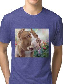 Pit Bull Painting  Tri-blend T-Shirt