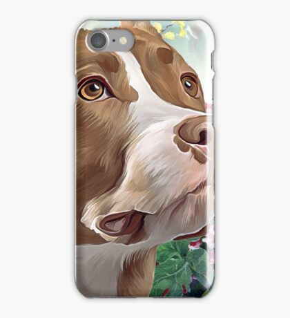 Pit Bull Painting  iPhone Case/Skin