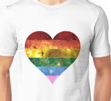 Rainbow Heart - LGBTQ Galaxy Unisex T-Shirt