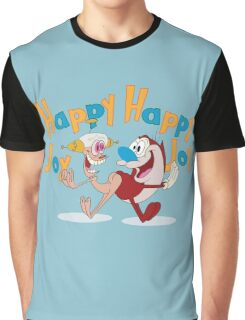 Happy Happy Joy Joy Graphic T-Shirt