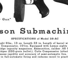 Thompson Submachine Gun. Sticker