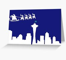 Merry Christmas Seattle 2 Greeting Card