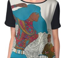 Psychedelic Paisley Rock n roll Chiffon Top