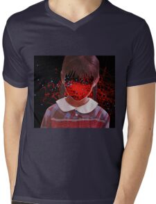 Little Red and Blue Mens V-Neck T-Shirt