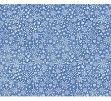 Snowflakes doodle pattern Photographic Print