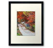 Autumn Country Lane Framed Print