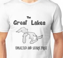 Lake Michigan Unsalted & Shark Free Unisex T-Shirt
