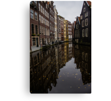 Amsterdam - Serene Fall Reflections Canvas Print