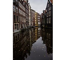 Amsterdam - Serene Fall Reflections Photographic Print
