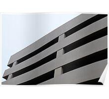 Concrete Building - Brutalist Architecture Poster