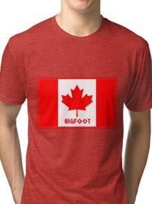 Canadian Bigfoot  Tri-blend T-Shirt