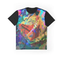 Abstract Tie Dye Primary Graphic T-Shirt