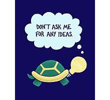 Idea Turtle Photographic Print