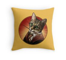 Harry cat Throw Pillow