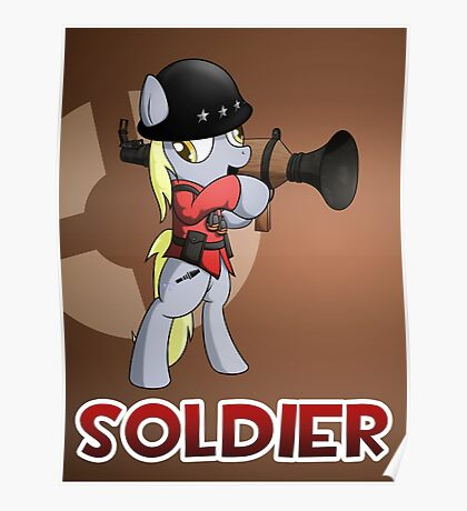 Soldier TF2 Pony Badge Poster