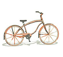 Cute bicycle Photographic Print