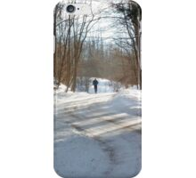 Winter Trail Jogger iPhone Case/Skin