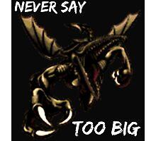 Ridley - Never say too big 2 Photographic Print