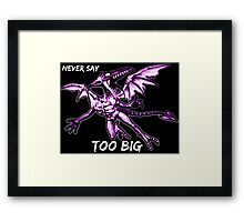 Ridley - Never say too big 3 Framed Print
