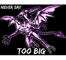 Ridley - Never say too big 3 Photographic Print