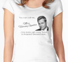 Harvey Specter - that's Mrs Harvey Specter to you Women's Fitted Scoop T-Shirt