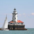 Chicago Harbor Lighthouse by Christine Till  @    CT-Graphics