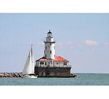 Chicago Harbor Lighthouse Photographic Print