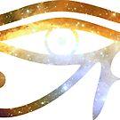 Eye of RA - Prawn Nebula Bright Eyed || Egyptian Stickers by SirDouglasFresh