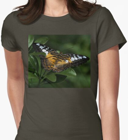 Brown Clipper...Parthenos sylvia Womens Fitted T-Shirt
